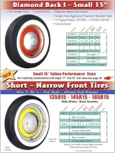"Small 15"" - Narrow front tyres"